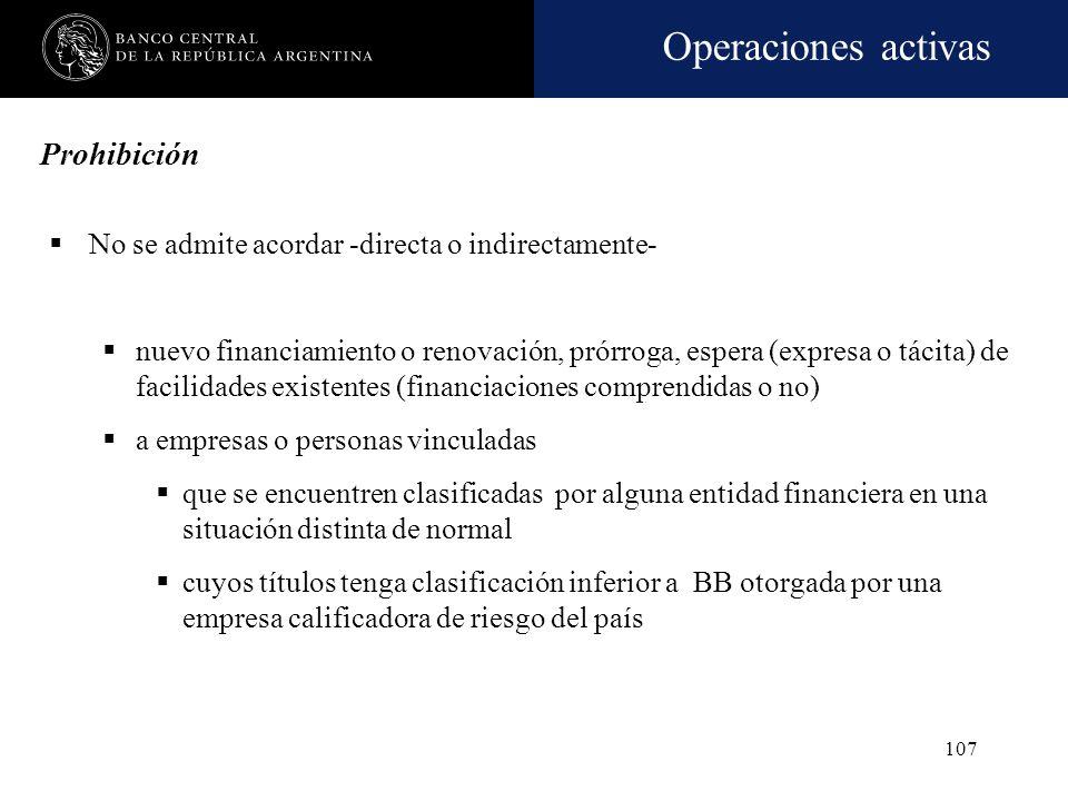 Operaciones activas 106 Vinculación. Informes para la dirección de la entidad financiera Dictamen de los síndicos sobre El informe del Gerente General