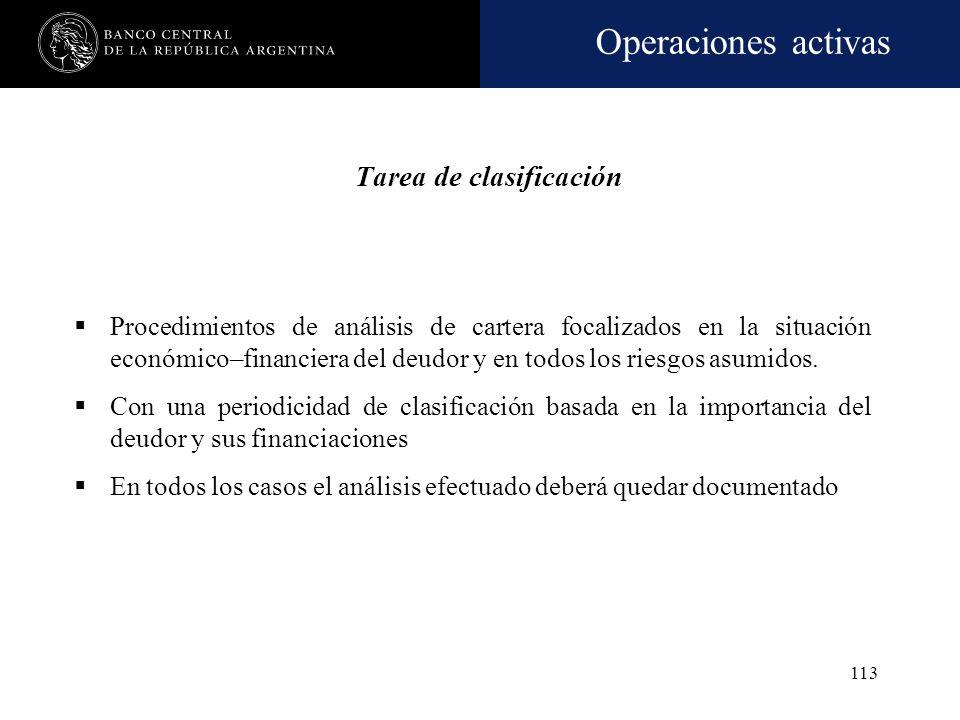 Operaciones activas 112 Deudores comprendidos Criterios especiales de imputación Créditos incorporados por cesión sin responsabilidad, se imputan al f