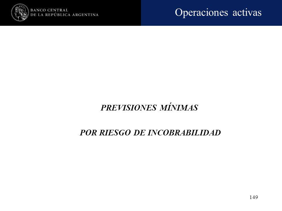 Operaciones activas 148 Información a clientes A partir del 31.3.08, las entidades financieras deberán comunicar, a todos los deudores, la clasificaci