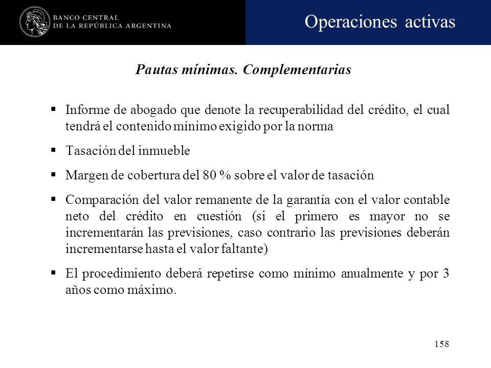 Operaciones activas 157 Permanencia en las categorías 4 y/o 5 (deudas con garantías preferidas): Criterio general: permanencia por más de 24 meses, se