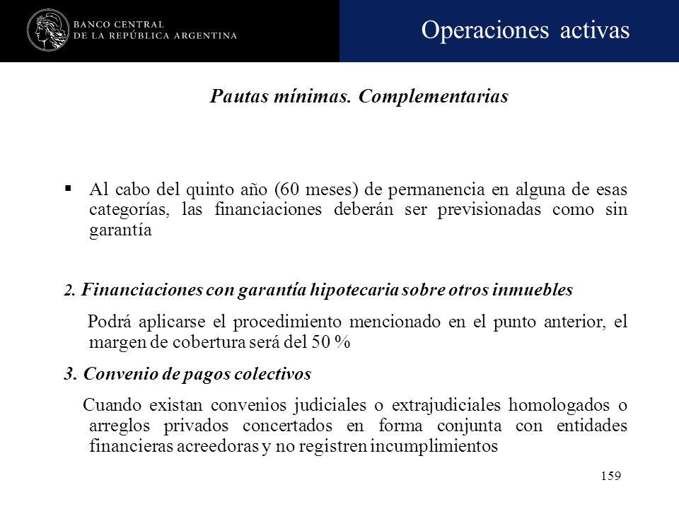 Operaciones activas 158 Informe de abogado que denote la recuperabilidad del crédito, el cual tendrá el contenido mínimo exigido por la norma Tasación