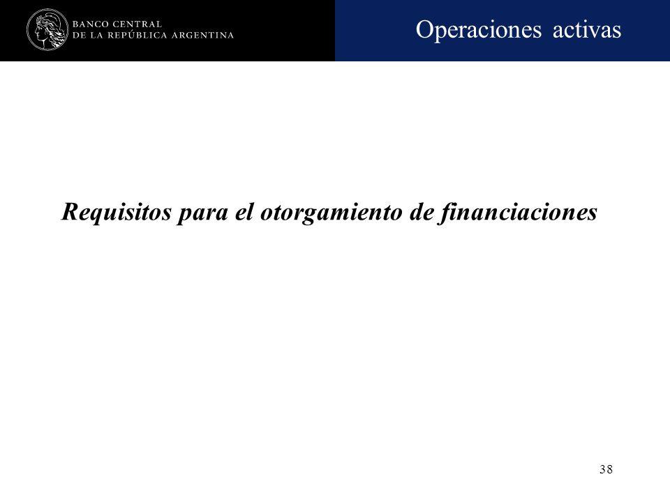 Operaciones activas 37 Gestión crediticia