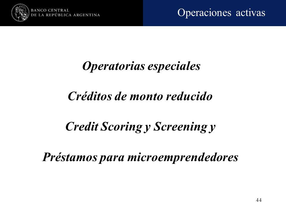 Operaciones activas 43 Declaración jurada del carácter de cliente vinculado o no a la CCC Esta obligación comprende a clientes del sector privado no f