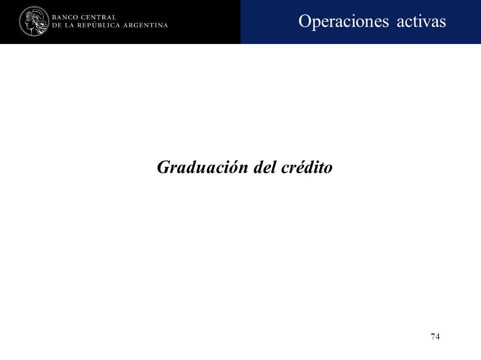 Operaciones activas 73 Fraccionamiento del riesgo crediticio -cont.- Forma de computar el total de las facilidades otorgadas a un prestatario Los impo