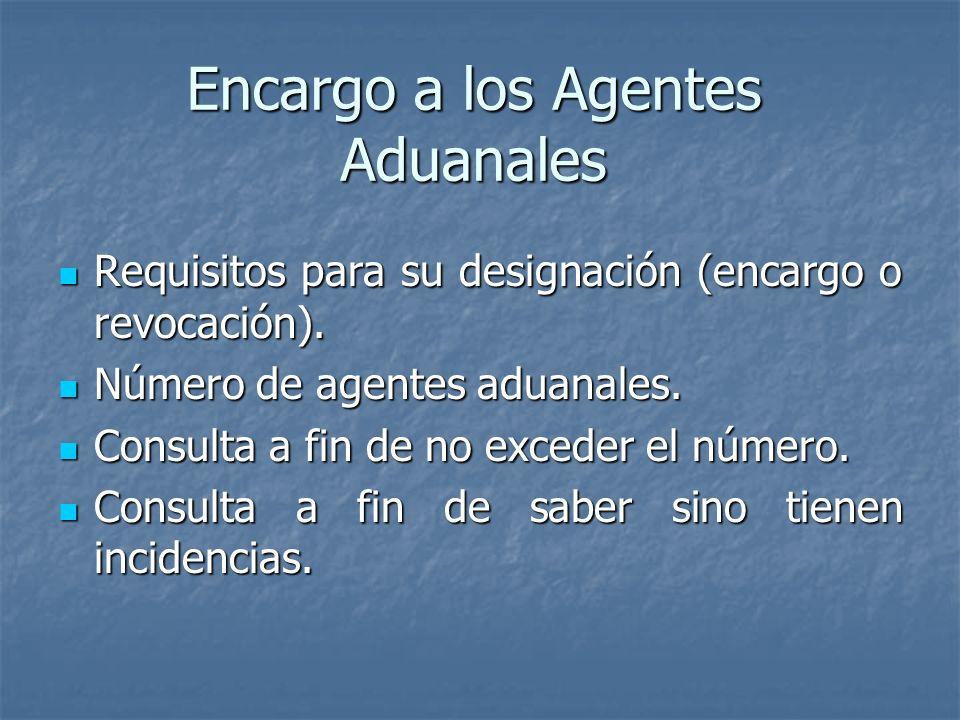 Encargo a los Agentes Aduanales Requisitos para su designación (encargo o revocación). Requisitos para su designación (encargo o revocación). Número d
