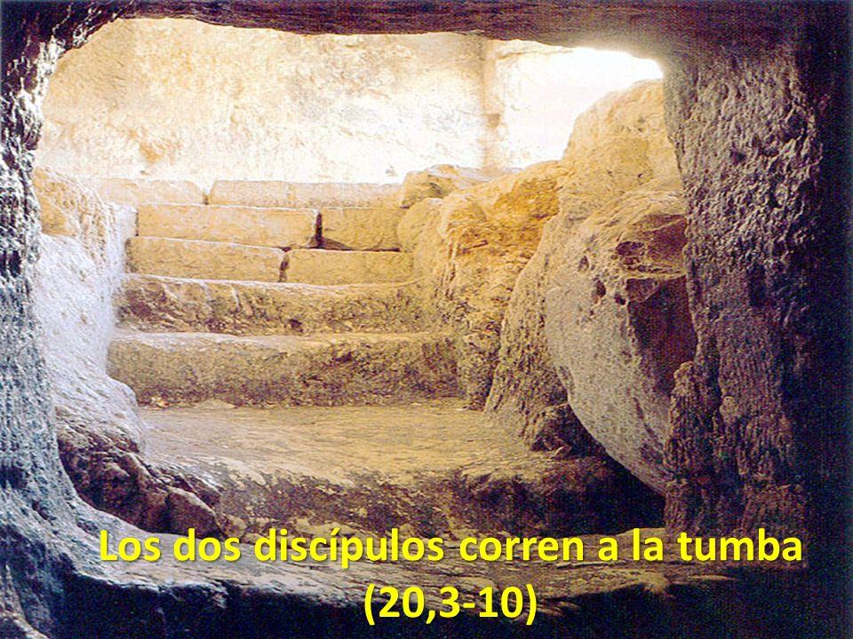 Los dos discípulos corren a la tumba (20,3-10)