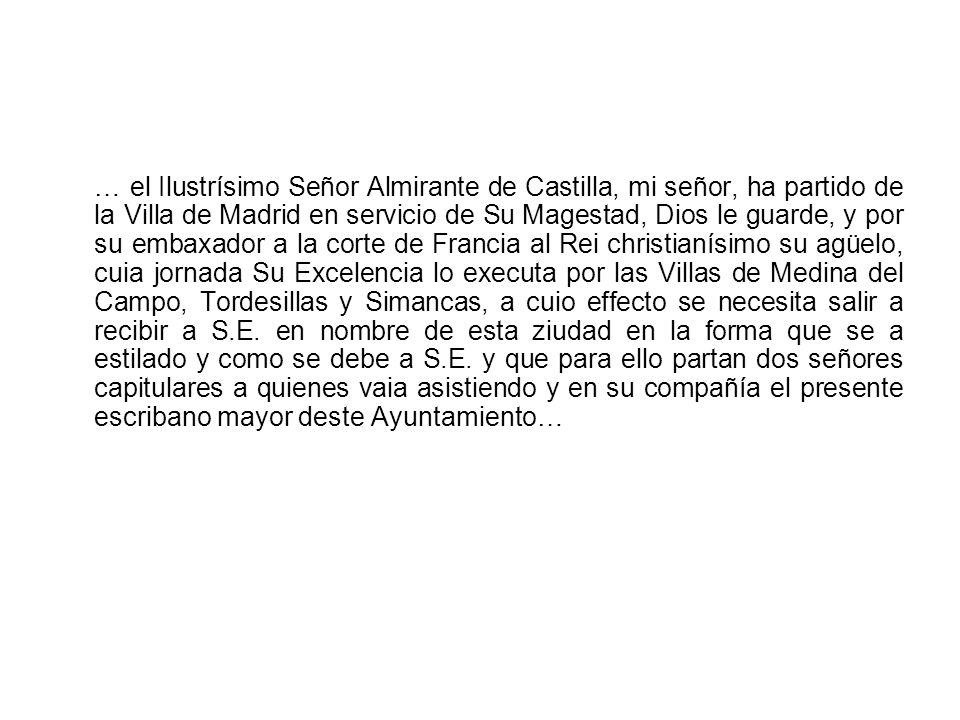 Sentencia ejecutoria en la que se resuelven los pleitos que la Villa tenía contra el Almirante de Castilla, Señor de la Villa, 1539