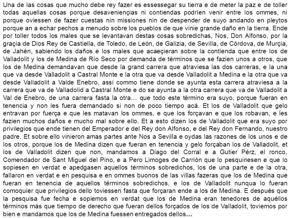 Real Cédula por la que Felipe IV concede el título de Ciudad a la Villa de Medina de Ríoseco, 1632
