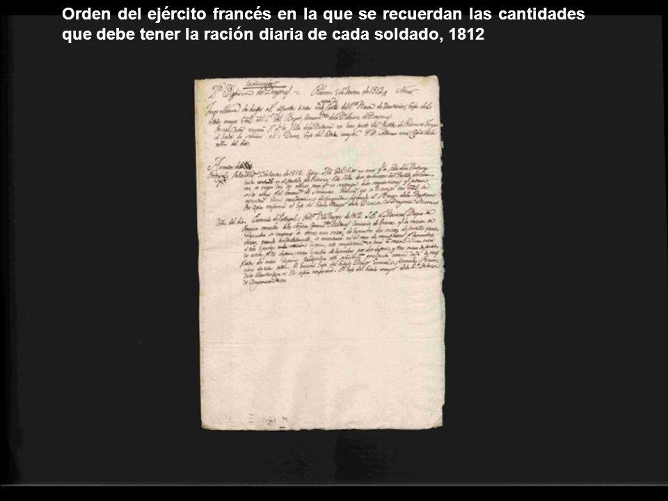 Orden del día: Exército de Portugal=Valladolid, 1º de Marzo de 1812.