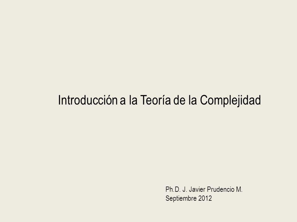 Introducción a la Teoría de la Complejidad Ph.D. J. Javier Prudencio M. Septiembre 2012