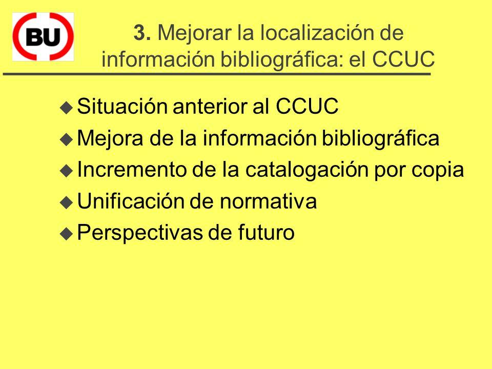 El Consorcio de Bibliotecas Universitarias de Catalunya u 1. La cooperación y las bibliotecas u 2. La cooperación en Catalunya: el CBUC u 3. Mejorar l