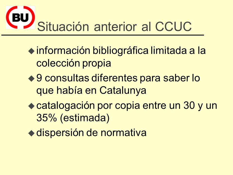 3. Mejorar la localización de información bibliográfica: el CCUC u Situación anterior al CCUC u Mejora de la información bibliográfica u Incremento de
