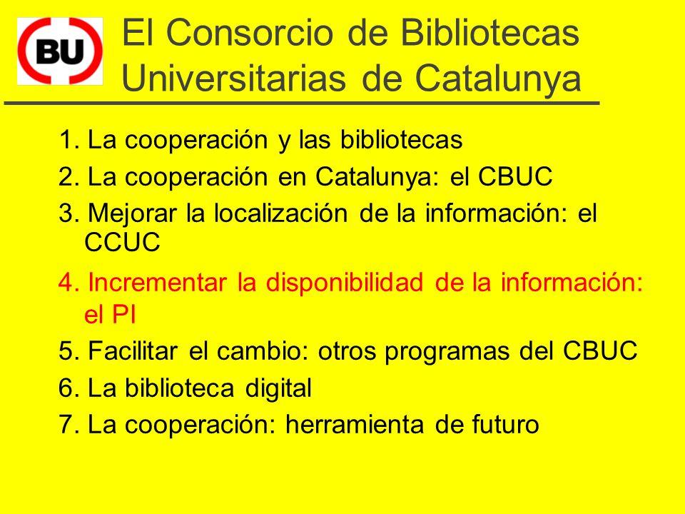 Perspectivas de futuro del CCUC u Integración de catálogos de otras bibliotecas u Incrementar la productividad de la catalogación u Profundizar pautas