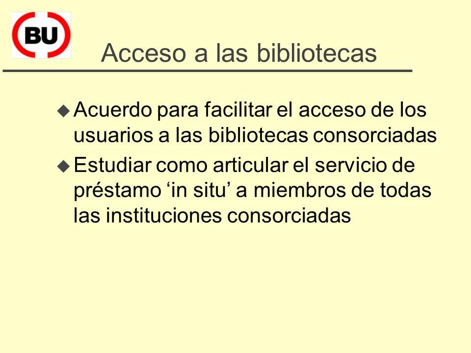 5. Facilitar el cambio: otros programas del CBUC u Facilitar el acceso de los usuarios a las bibliotecas consorciadas u Compras cooperativas de materi