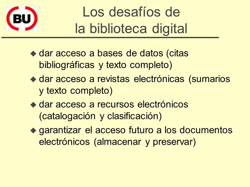 6. La biblioteca digital u Los desafíos u Los problemas u El ámbito de la cooperación u Los proyectos del CBUC u Beneficios esperados u Plan de trabaj
