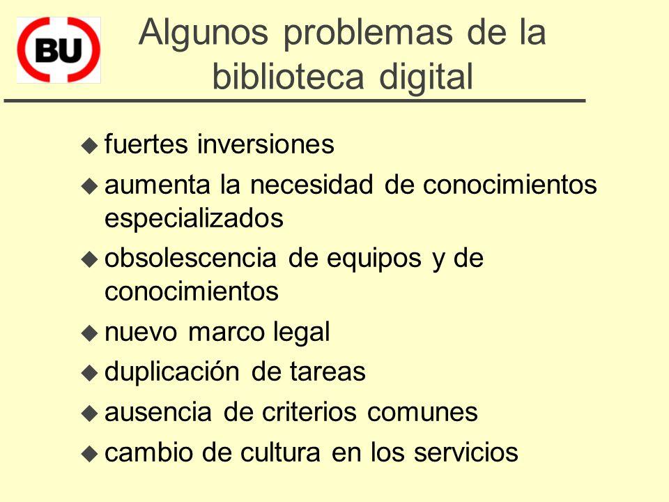 Los desafíos de la biblioteca digital u dar acceso a bases de datos (citas bibliográficas y texto completo) u dar acceso a revistas electrónicas (suma