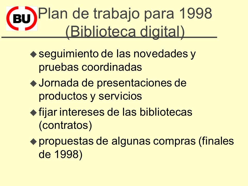 Beneficios esperados u Mejorar la información bibliográfica – sumarios electrónicos – bases de datos compartidas u Incremento de disponibilidad – revi