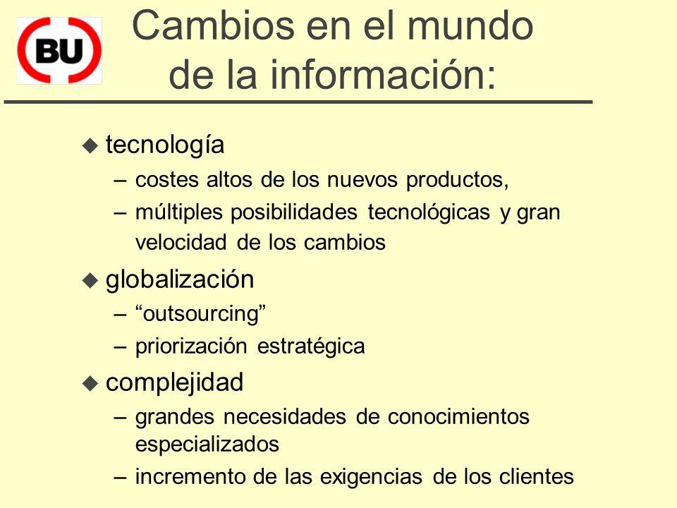 u cambios en el mundo de la información u la cooperación: herramienta complementaria de mejora u los beneficios y las dificultades de cooperar u la fó