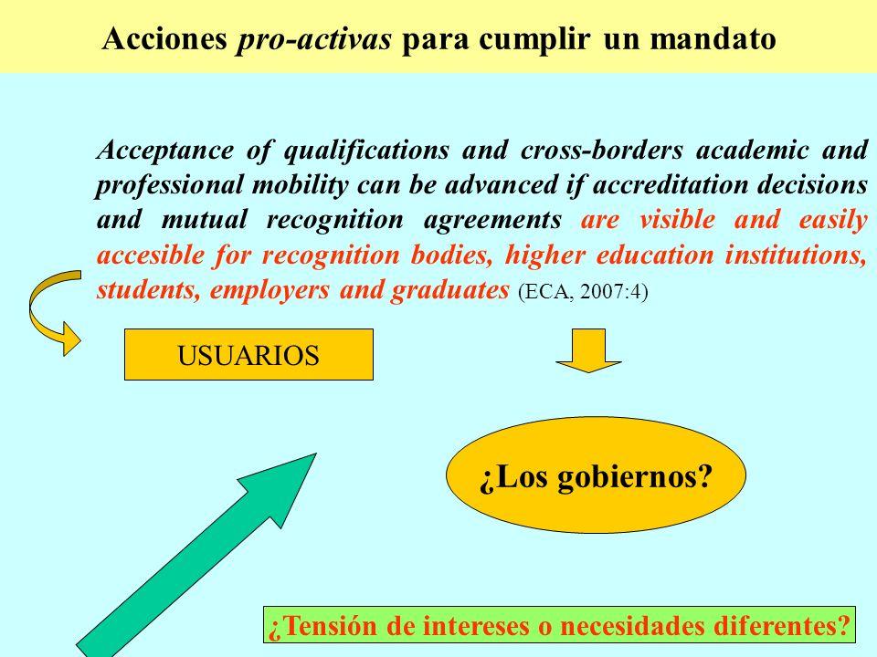 El impacto del buen hacer Atención no sistematizada..the impression is often anecdotal and rarely based on any systematic analysis.