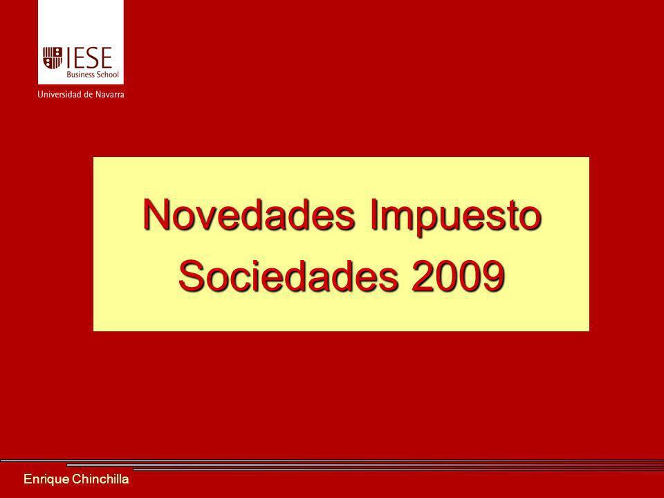 Enrique Chinchilla Novedades Impuesto Sociedades 2009