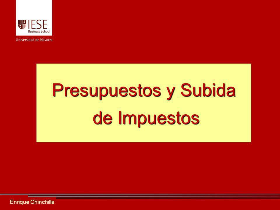 Enrique Chinchilla Presupuestos y Subida de Impuestos