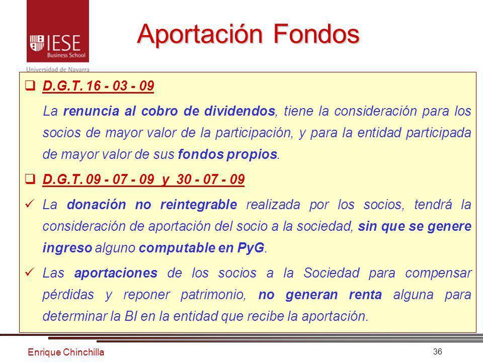 Enrique Chinchilla 36 Aportación Fondos D.G.T.