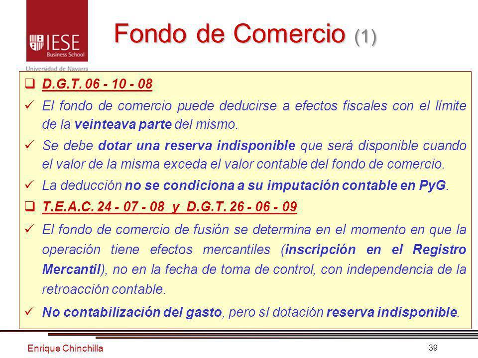 Enrique Chinchilla 39 Fondo de Comercio (1) D.G.T.