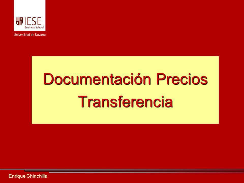 Enrique Chinchilla Documentación Precios Transferencia
