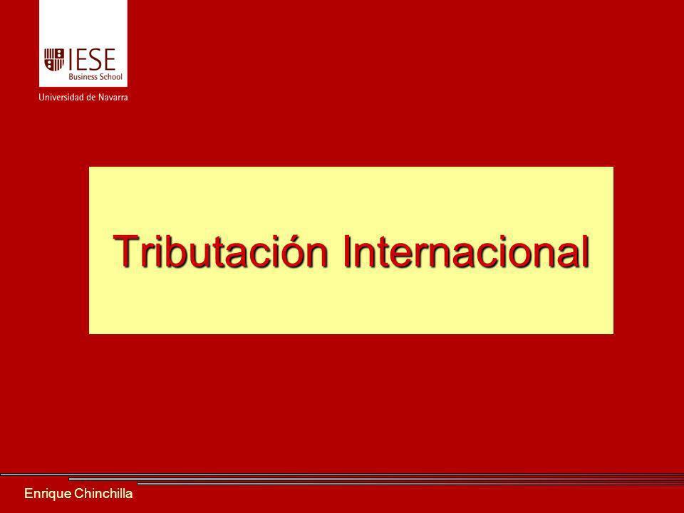 Enrique Chinchilla Tributación Internacional
