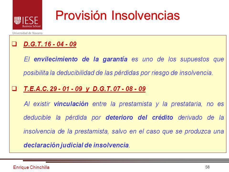 Enrique Chinchilla 58 Provisión Insolvencias D.G.T.