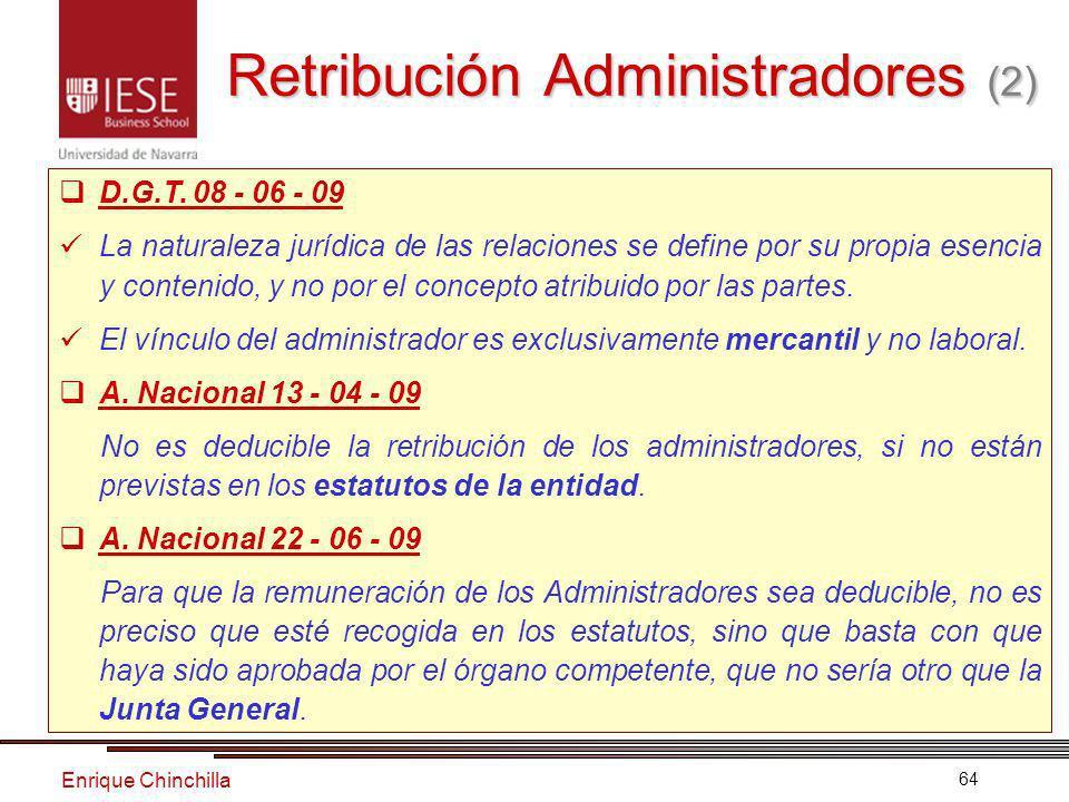 Enrique Chinchilla 64 Retribución Administradores (2) D.G.T.