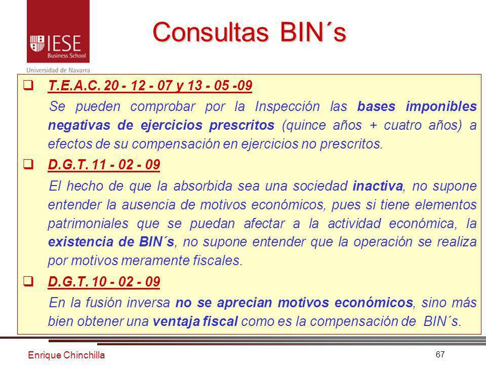 Enrique Chinchilla 67 Consultas BIN´s T.E.A.C.