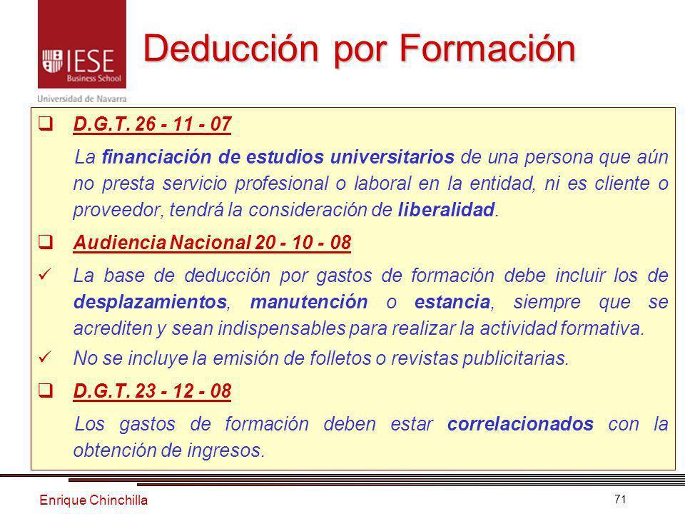 Enrique Chinchilla 71 Deducción por Formación D.G.T.