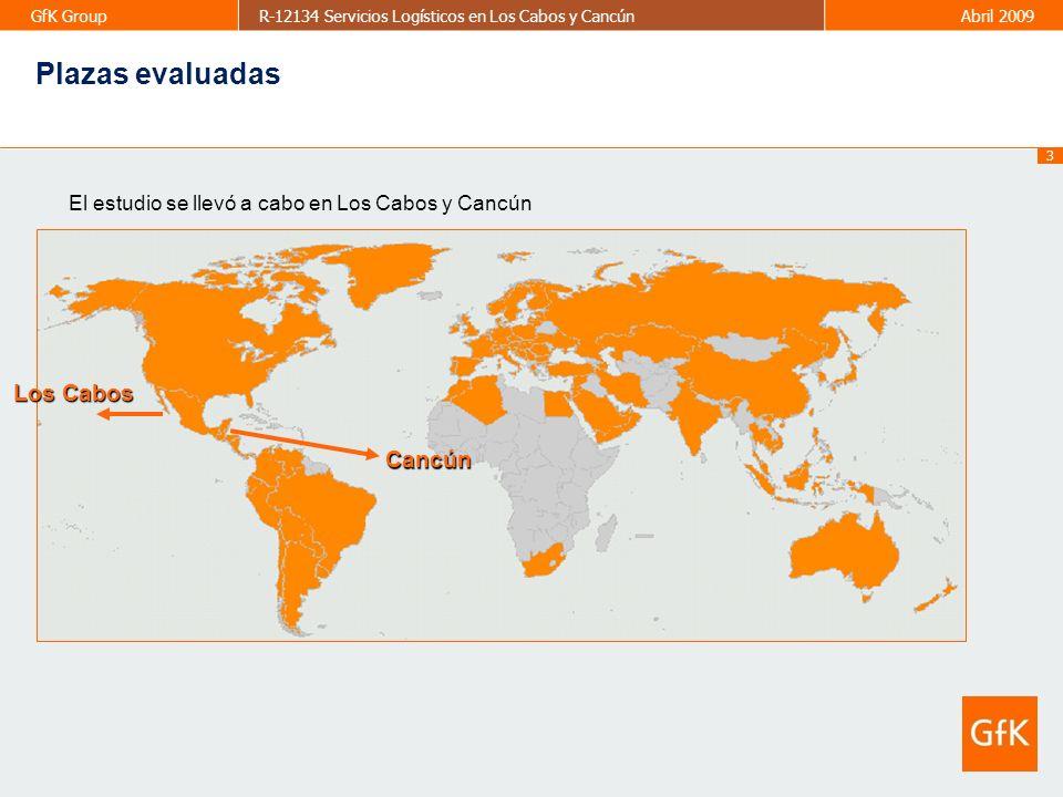 44 GfK GroupR-12134 Servicios Logísticos en Los Cabos y CancúnAbril 2009 2010 Mayo Proveedores utilizados frecuentemente o alguna vez 44 ServicioActualmenteAlguna vez Comercializadoras Palma, Alvidrez, City Club, Comercial Norteamericano, Campos Elíseos en México, Bunsul, Sams Ag.