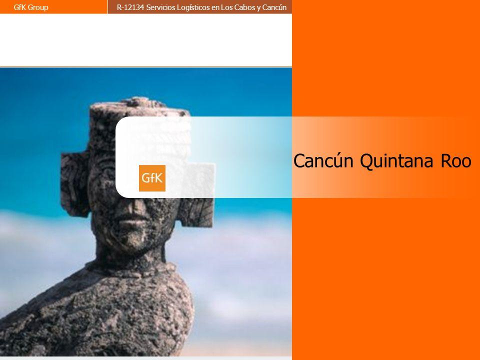 5 GfK GroupR-12134 Servicios Logísticos en Los Cabos y CancúnAbril 2009 Cancún, destino turístico por excelencia de México, formada por más de 28 kilómetros de playas tiene mas de 143 hoteles con algo más de 26 mil habitaciones disponibles.
