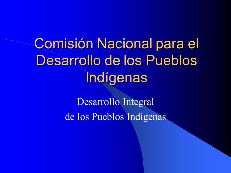Comisión Nacional para el Desarrollo de los Pueblos Indígenas Desarrollo Integral de los Pueblos Indígenas