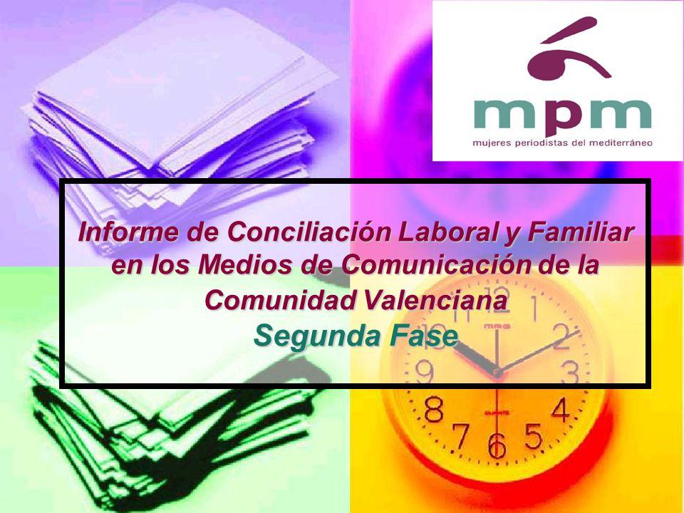 Informe de Conciliación Laboral y Familiar en los Medios de Comunicación de la Comunidad Valenciana Segunda Fase