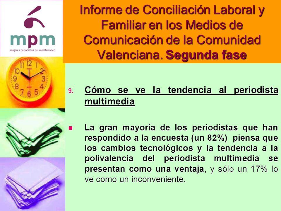 Informe de Conciliación Laboral y Familiar en los Medios de Comunicación de la Comunidad Valenciana.