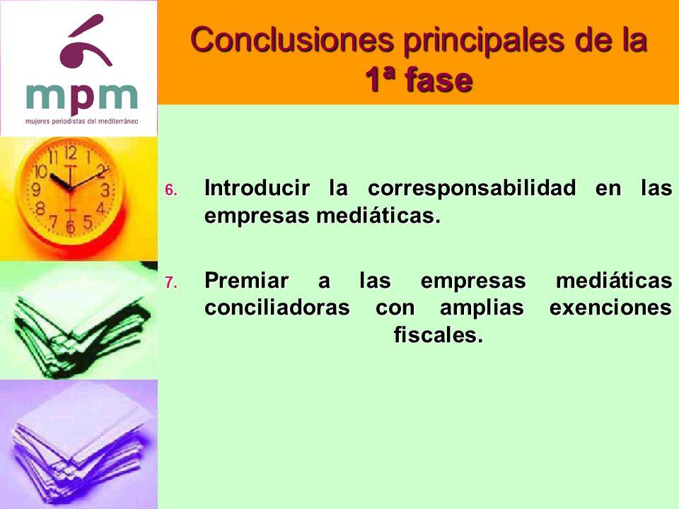 Conclusiones principales de la 2ª fase 4.
