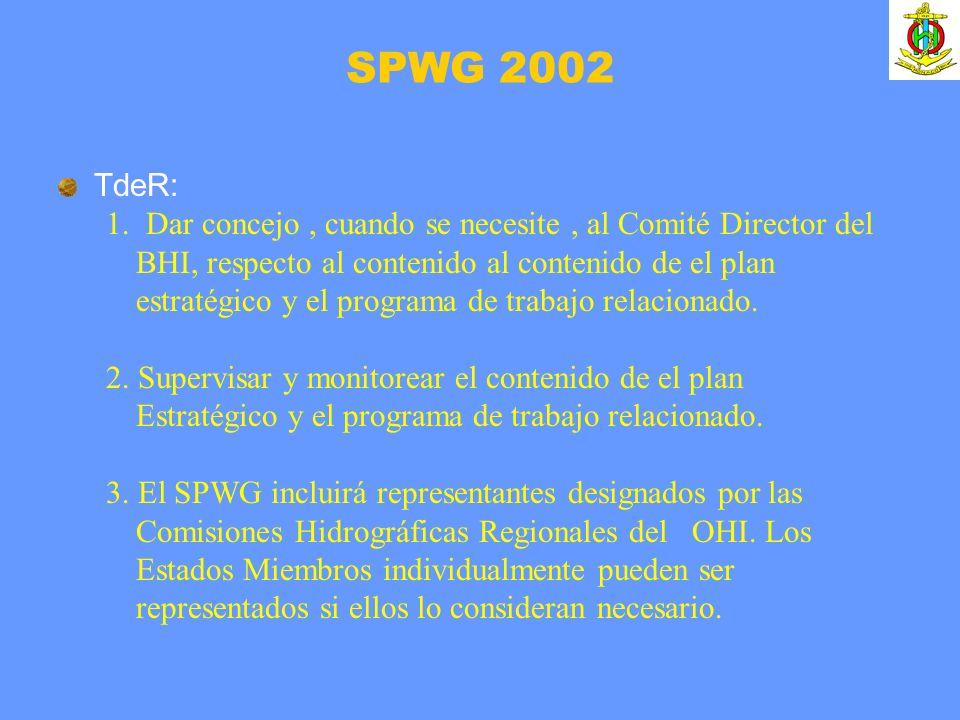 TdeR: 1. Dar concejo, cuando se necesite, al Comité Director del BHI, respecto al contenido al contenido de el plan estratégico y el programa de traba