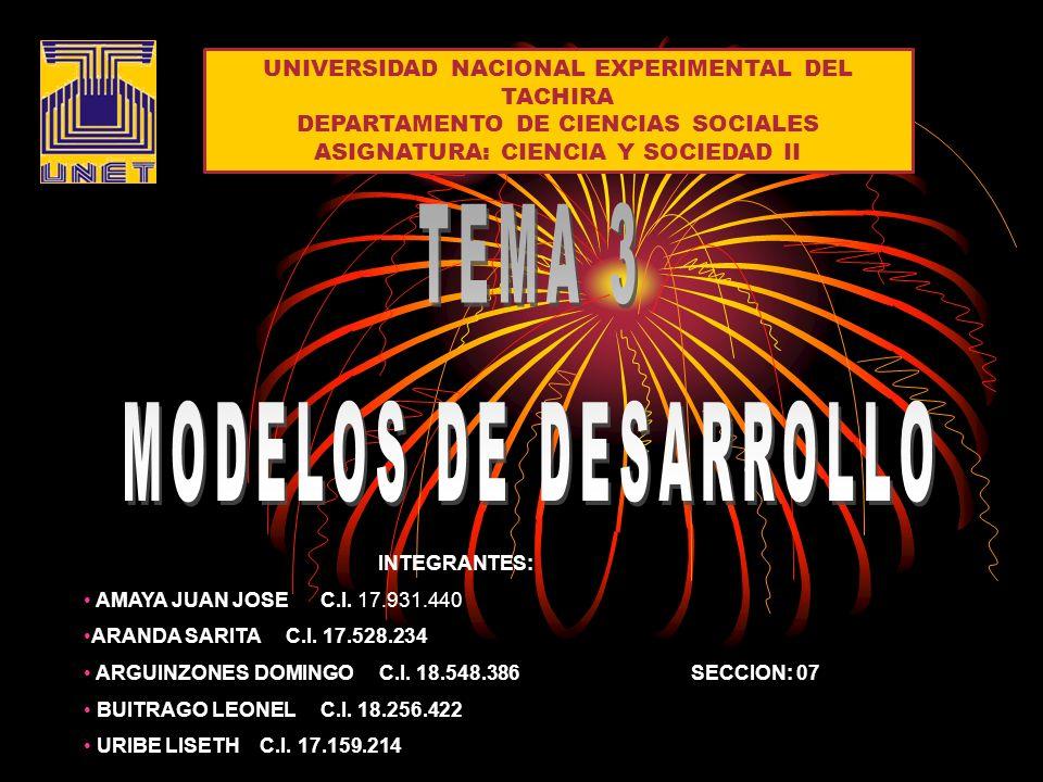UNIVERSIDAD NACIONAL EXPERIMENTAL DEL TACHIRA DEPARTAMENTO DE CIENCIAS SOCIALES ASIGNATURA: CIENCIA Y SOCIEDAD II INTEGRANTES: AMAYA JUAN JOSE C.I.