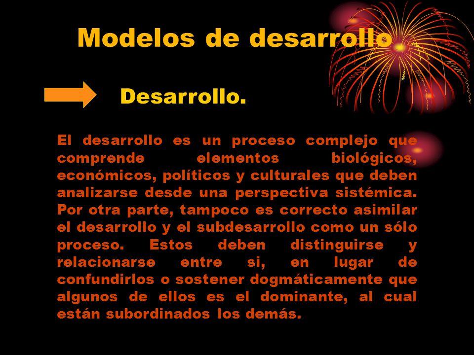 Modelos de desarrollo Desarrollo.