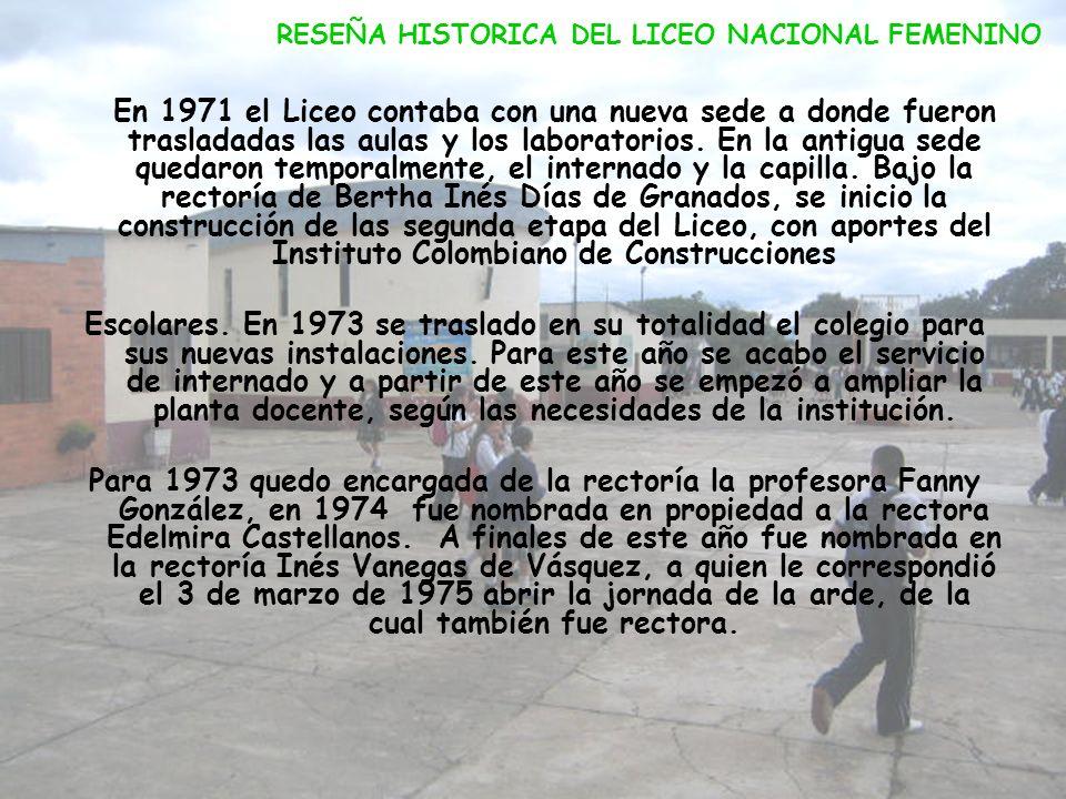 En 1961 el colegio adquirió para su sede un lote de 46000 metros cuadrados vendido por la Corporación Autónoma del municipio salinero. Los planos para