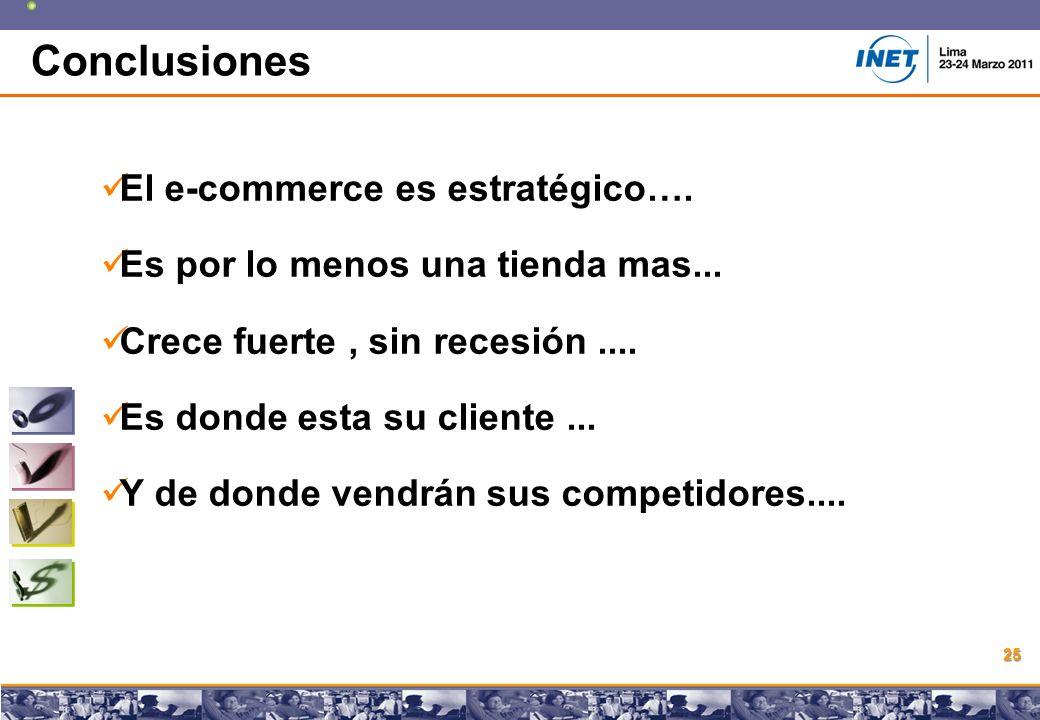 Copyright © 2008 Marcos Pueyrredon Copyright © 2008 Marcos Pueyrredon 25 Conclusiones El e-commerce es estratégico….