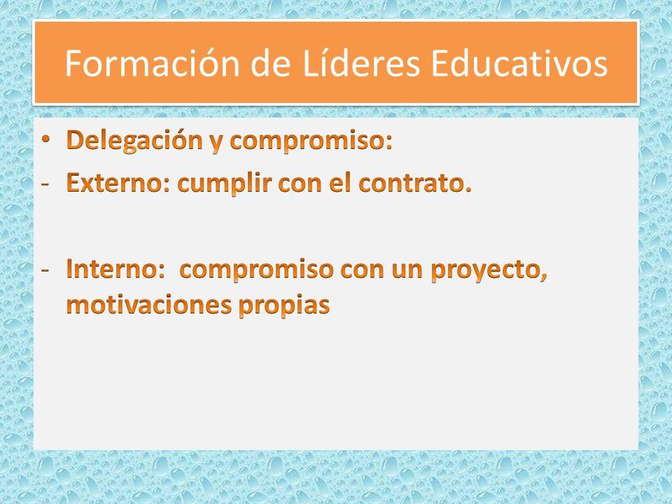 Formación de Líderes Educativos