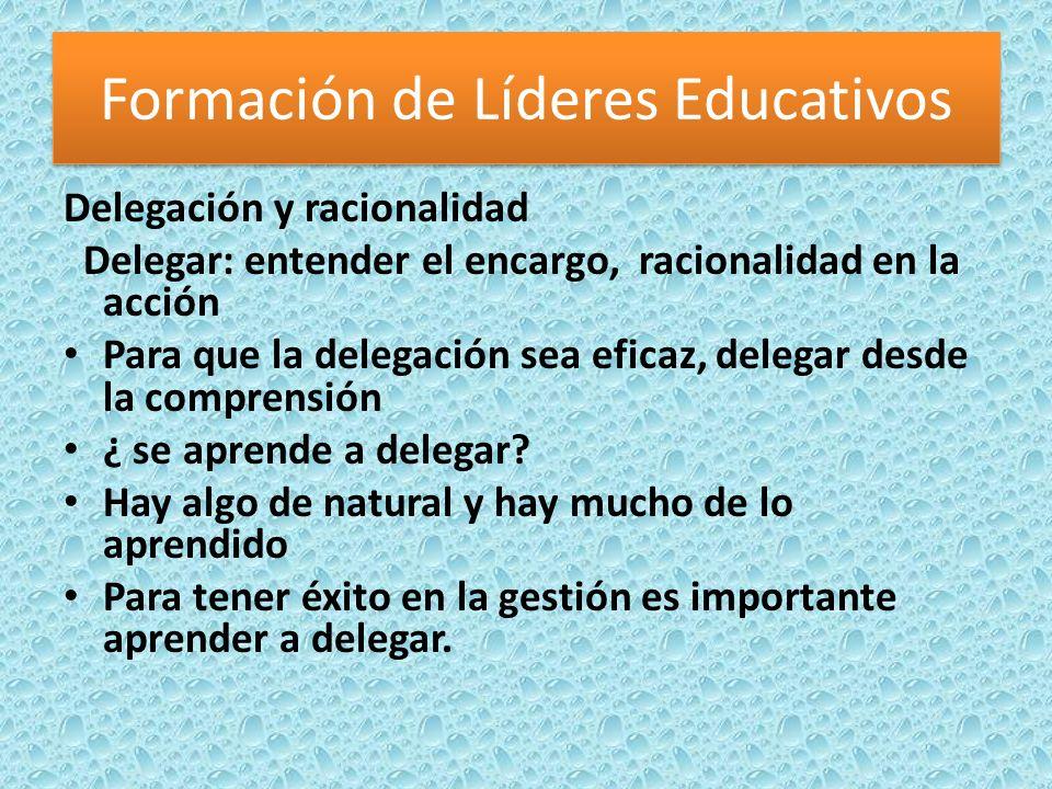 Delegación y racionalidad Delegar: entender el encargo, racionalidad en la acción Para que la delegación sea eficaz, delegar desde la comprensión ¿ se aprende a delegar.