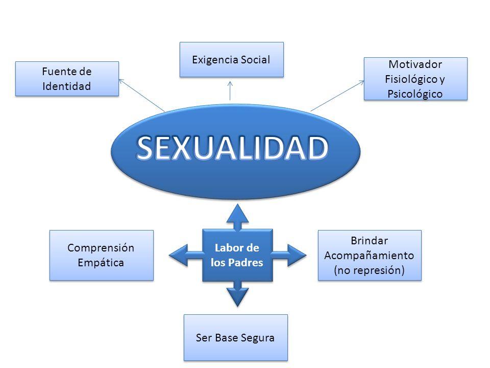 Fuente de Identidad Exigencia Social Motivador Fisiológico y Psicológico Labor de los Padres Labor de los Padres Comprensión Empática Ser Base Segura