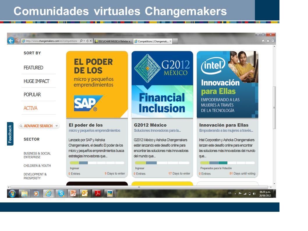 Comunidades virtuales Changemakers