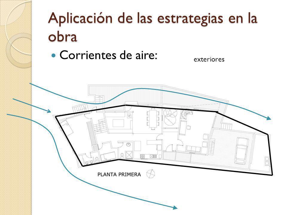 Aplicación de las estrategias en la obra Corrientes de aire: exteriores