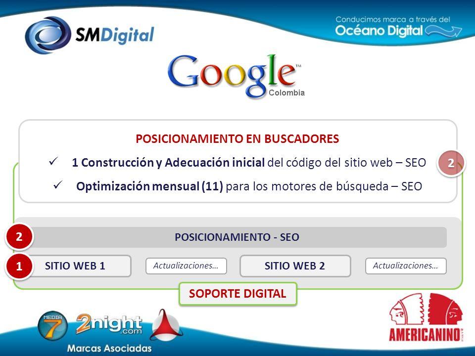 En Colombia el 97% de los internautas utilizan Google. En promedio, el 75% del tráfico de los sitios web proviene de buscadores. POSICIONAMIENTO EN BU